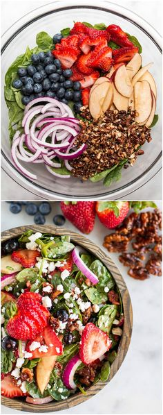 Strawberry apple walnut spinach salad - Here's A Refreshing Summer Salad That Will Leave You Feeling So Good