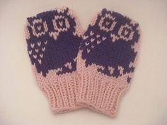 Owl Baby Mittens pattern by Nett Hulse