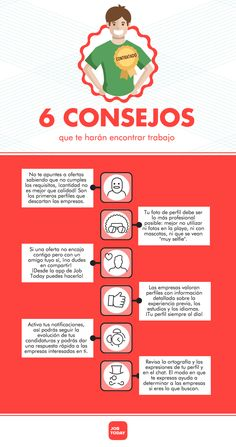 6 consejos para encontrar trabajo …#infografia