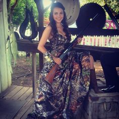 Senior camo prom dress