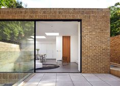 Phillips Tracey replaces a derelict London dental surgery with a simple brick house Brick Architecture, Residential Architecture, Interior Architecture, Modern Brick House, Brick Houses, Brick Extension, Rear Extension, Brick Detail, Three Bedroom House