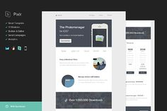Pixlr Email Template + Builder