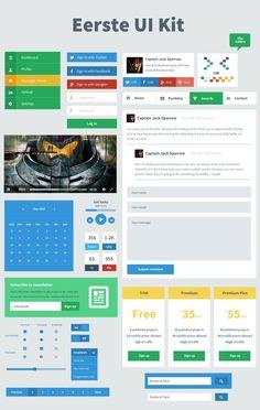 Eerste – Free Flat User Interface Kit