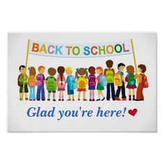Welcome Back, Glad You're Here (School Poster) Poster