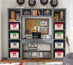 Preston Desk & Storage Wall System #pbkids