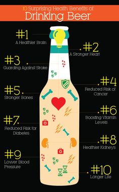 10 Health Benefits of Drinking (Craft) Beer  #craftbeer got to be true its beer.