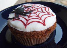 Hämähäkki verkkoineen Goodies, Cupcakes, Desserts, Food, Sweet Like Candy, Tailgate Desserts, Treats, Cupcake, Deserts