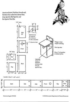 Plans for Kestrel House