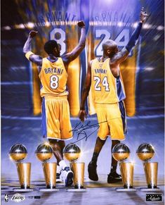 54ecee2f358 Kobe Bryant Los Angeles Lakers Autographed 24