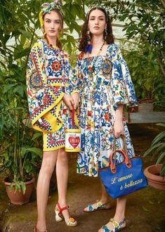 Fall- Winter Dolce & Gabbana Women's I Love Maiolica Collection Fashion Portfolio, Editorial Fashion, Fashion Trends, Family Outfits, Fashion Graphic, Fashion Studio, Playing Dress Up, Couture Fashion, World Of Fashion