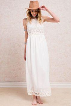 Let It Ring Crochet Knit Maxi Dress – The Laguna Room
