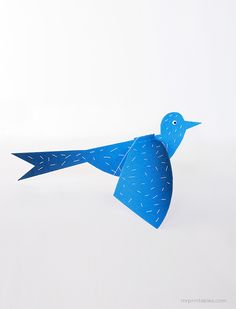 Flapping Bird Paper Toy - Mr Printables