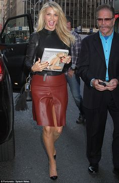 Ageless beauty:  Christie Brinkley looked stunning as she headed to The Howard Stern Show on Monday in New York City