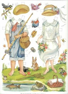 Brooke and Buddy of the 1920s Paper Dolls (12 of 16) by Evelyn Gathings, Dover Publications, 2000
