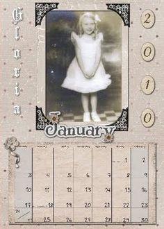 Family History desktop calendar - genealogy