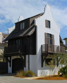 Cape Dutch Architecture in Rosemary Beach, FL / commodore cottage Beach Cottage Style, Coastal Cottage, Beautiful Home Gardens, Beautiful Homes, Style At Home, Dutch House, D House, Rosemary Beach, Craftsman Style Homes