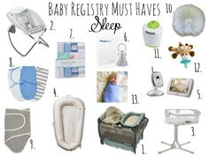 baby registry must haves for sleep- The Mrs. & Co.