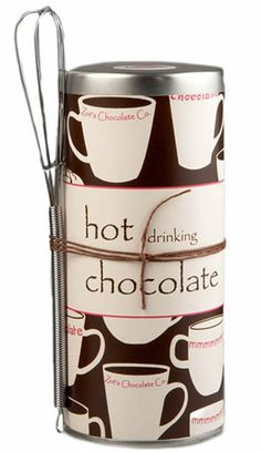HOT DRINKING CHOCOLATE  Zoe's private blend of homemade European style drinking chocolate. Thick, creamy and ultra-delicious. Perfect for cozying up that first chill of autumn. For ordering information make sure to check out our website at www.zoeschocolate.com