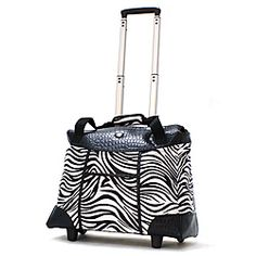 @Overstock - Spend all day away from home with this deluxe rolling zebra fashion tote. Constructed of a durable microfiber, this tote also features multiple organization pockets, a spacious main compartment, and a heavily-padded laptop compartment. http://www.overstock.com/Luggage-Bags/Olympia-Deluxe-Zebra-Womens-Rolling-17-inch-Laptop-Tote/6513879/product.html?CID=214117 $59.99