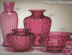 Pilgrim Glass from West Virginia. Its cranberry glass is legendary.