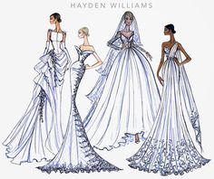 #Hayden Williams Fashion Illustrations #Bridal Couture 2014 collection by Hayden Williams