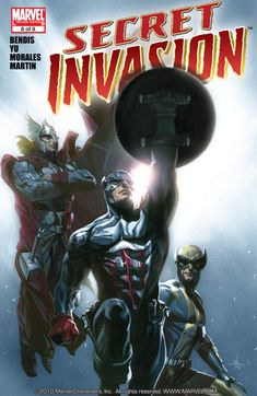 Secret Invasion Vol1 8 (2009) by Brian Michael BENDIS and Leinil YU   Reading LIST for Marvel COMICS
