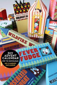 Harry Potter Advent Calendar Wizard - Weasleys Product Boxes Christmas Ornament - DIY Calendar PDF Instant Download