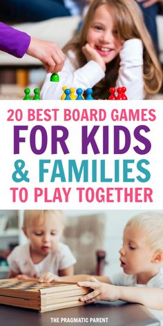 Your guide to the best board games for kids to play together, including games for as young as 2 years old and fun for the entire family to play together. Family Game Night, Family Games, Best Family Board Games, Happy Mom, Happy Kids, Kids And Parenting, Parenting Hacks, Free Games For Kids, Burn Out