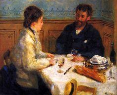 The Luncheon / Pierre Auguste Renoir - circa 1879