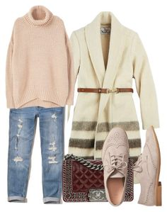 """""""Cardigan and Denim"""" by ojomrs on Polyvore featuring Woolrich, Hollister Co., MANGO, Chanel and Gap"""
