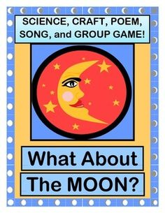 """Add some ACTION to your Moon Theme!  Learn about the Moon with age-appropriate 'TALKING POINTS'.  Learn a GROUP POEM about the shapes of the Moon's phases.  Make a MOON PHASE SHAPE CRAFT.  Sing a familiar-tune MOON SONG, and play """"THE MOONDANCE GAME""""!  (8 pages)  From Joyful Noises Express TpT!  $"""