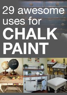 29 awesome uses for chalk paint Painted Furniture, Painted Hutch, Chalkboard Paint Furniture, Distressed Furniture, Refurbished Furniture, Shabby Chic Furniture, Chalk Painting, Painting Tips, Paint Ideas