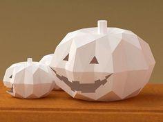 Halloween Jack-O'-Lantern 3D Paper Model Pattern