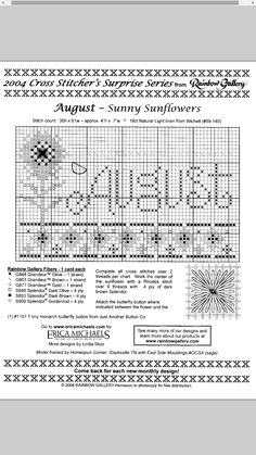 Sunny Sunflowers - Augustus #08 Design By: Erica Michaels