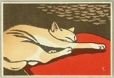 Tomoo Inagaki , Cat on ArtStack #tomoo-inagaki #art
