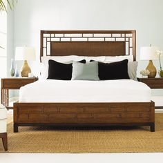 Tommy Bahama Home Ocean Club Paradise Point Panel Bed & Reviews | Wayfair