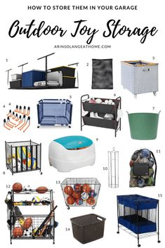 Outdoor Toy Storage Ideas All Moms Will Love - arinsolangeathome Pool Toy Storage, Outdoor Toy Storage, Kids Storage, Storage Ideas, Organizing Life, Toy Organization, Household Organization, Pool Shed, Outdoor Toys For Kids