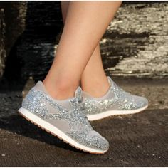 Women Sparkle Sneakers Flats Shoes Shiny Casual Fashion Pink Aesthetic Sport Running Shoes Girl's Thick Lace up Soft Slip On Open Toe High Heels, High Heel Pumps, Pumps Heels, Flats, Aesthetic Center, Pink Aesthetic, Straw Handbags, Ali Express, Jelly Sandals