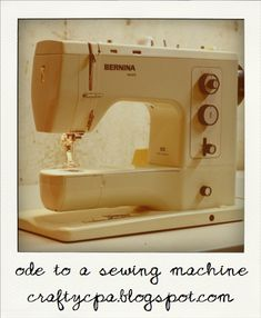 Bernina 830 Record machine which was made in the early seventies.