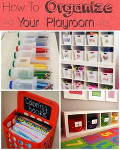 How to organize your playroom #organization