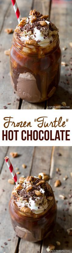 """Turtle"" Frozen Hot Chocolate Recipe 