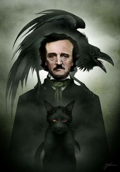 Edgar Allan Poe by Sam Shearon (Mister-Sam)
