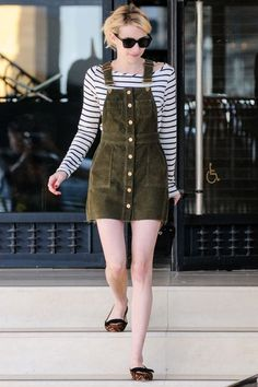 When the weather doesn't match the season, do as Emma Roberts does