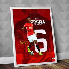 Paul Pogba Print / Manchester United FC affiche Illustration Paul Pogba Manchester United, Manchester United Soccer, Soccer Pro, Soccer Goals, Morgan Soccer, Soccer Tips, Soccer Cleats, Soccer Players, Premier League