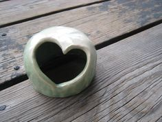 Little Ceramic Heart  Betta Fish Hide  Ceramics and by WhiteCitrus