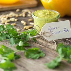 Schnell und frisch zubereitet, lässt sich mit diesem #Pesto jedes Nudelgericht verfeinern. #rezept #paprika #koriander