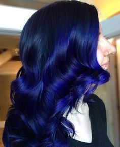 20 Dark Blue Hairstyles That Will Brighten Up Your Look Blue Balayage For Black Hair Blue Black Hair Color, Dark Blue Hair, Dyed Hair Blue, Cool Hair Color, Green Hair, Lilac Hair, Pastel Hair, Blue Ombre, Hair Colour