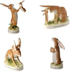 New boxed JOHN BESWICK Guess How Much I Love You Big/Little Nutbrown Hare Figure