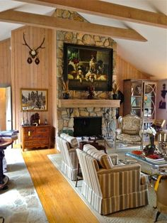 via LissyParker blog: Charles Faudree Estate sale | Lots of beautiful collections  were in the living room—yellow tags mean sold