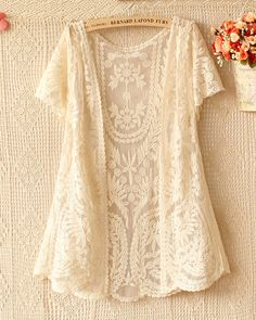 2017 Summer Embroidered Floral Crochet Lace Cardigan Shawl short sleeve Cardigan Coat sunscreen Beach Cover up blusa 2017 Summer Embroidered Floral Crochet Lace Cardigan Shawl short sleev – rodewe Cardigan Verde, Shawl Cardigan, Short Sleeve Cardigan, Crochet Cardigan, Long Sleeve, Floral Cardigan, Crochet Shirt, Lace Sweater, White Cardigan